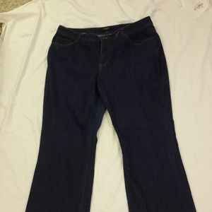 Nine West Blue Jeans 16 Dark Wash Boot Cut Stretch